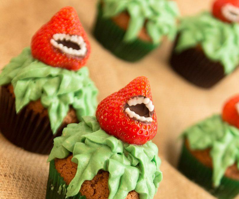 Halloween muffinssit, kuin lihansyöjäkasvi!