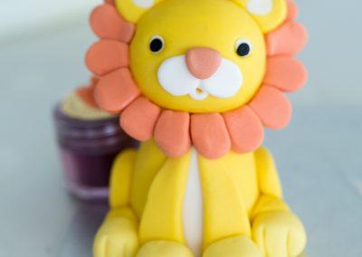 fondant lion decorate-4
