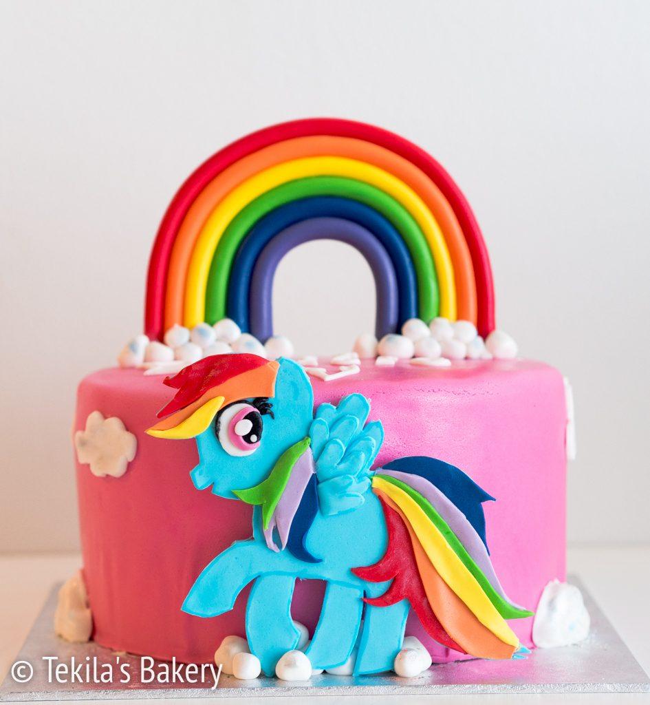 rainbow poney kakku-1