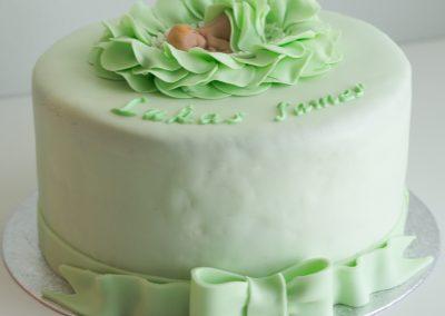 mintunvihrea vauvakoriste ja kakku-5