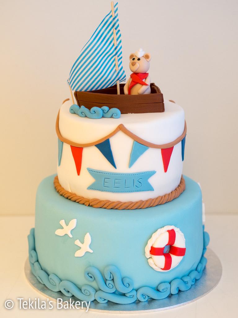meriaiheinen kakku vauvalle