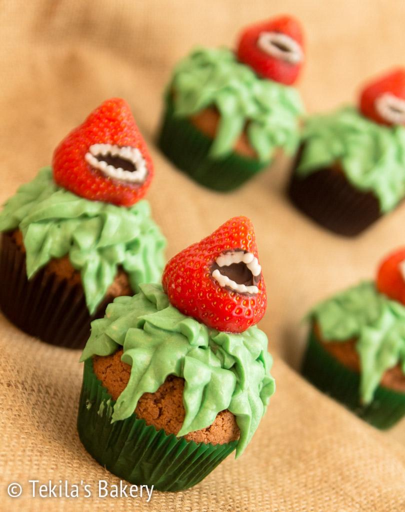 Halloween lihansyöjä muffinssit
