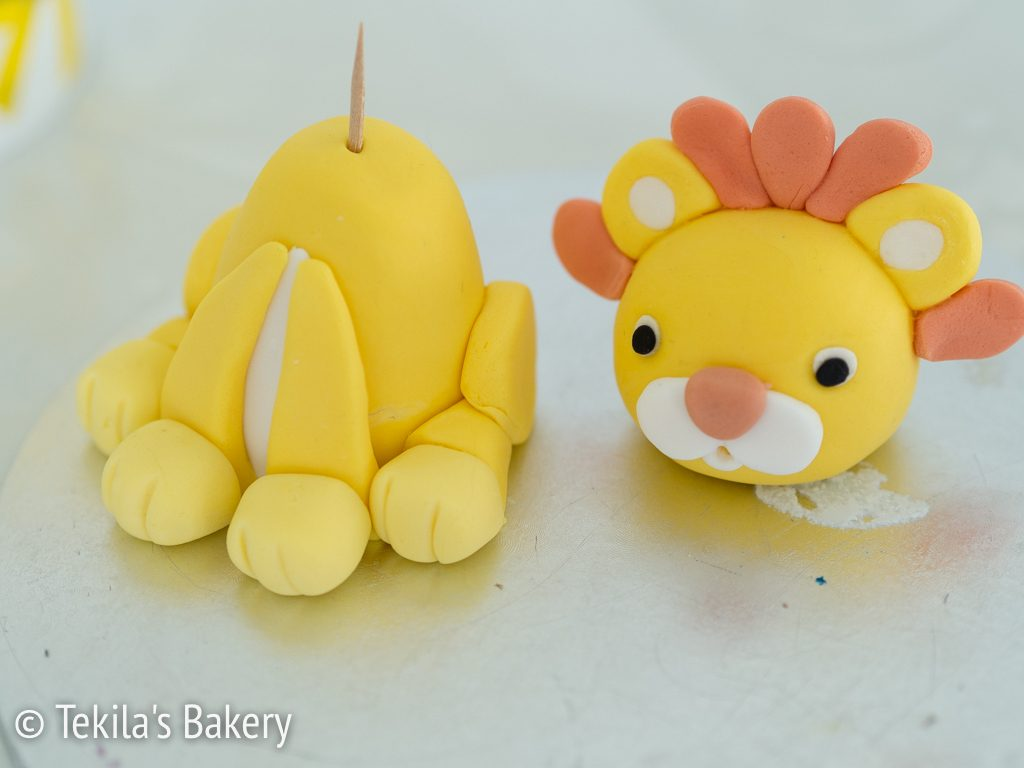 fondant lion decorate-1
