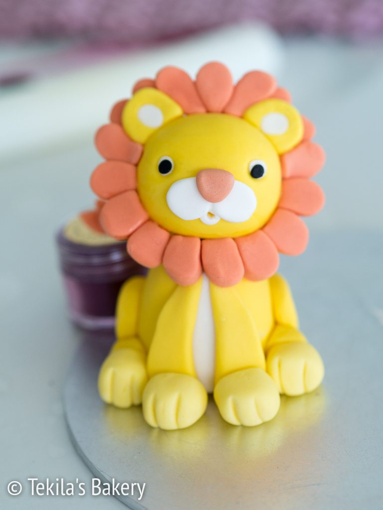 fondant lion decorate-4