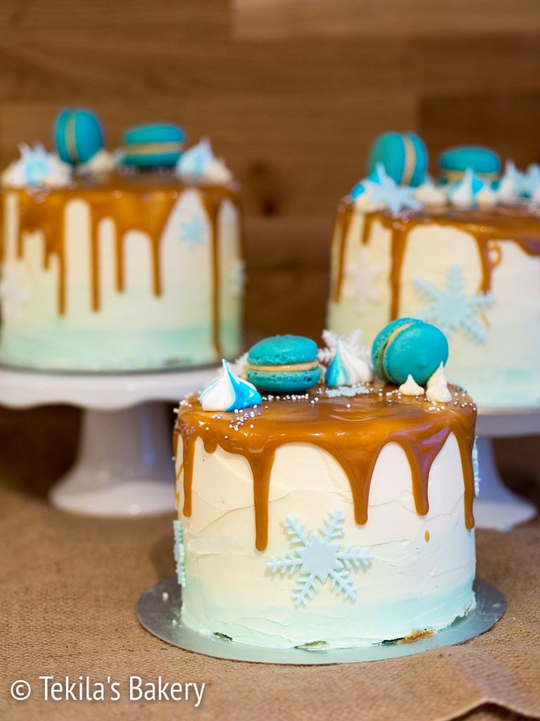 uuden vuoden drip cake